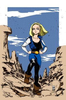 Android 18 By Smolb by Kenkira