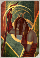 DAI: Inquisitor Adaar - Tresspaser card by R-Aters