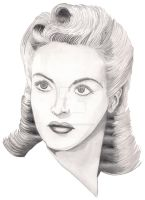 Betty Grable Portrait by JesseAllshouse