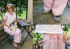 Thifted Upcycle: Pajama Cookies Cat by LualaDy