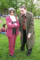 Edgeworth and Gumshoe by ShiroiKiba88