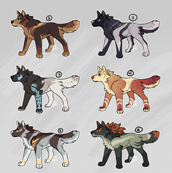 Fantasy Wolf Design Adopts [CLOSED] by Liimesquares
