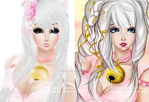 Hael (before-after) by RazorCheeks