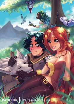 Dragons in Places - Game Grumps V Zine by Helixel