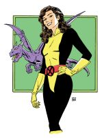 Kitty Pryde and Lockheed by deankotz
