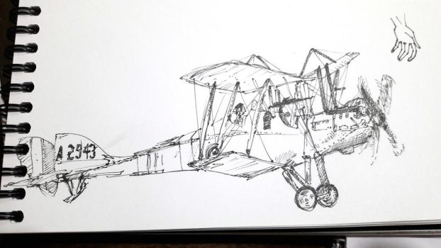 Airplane-sketch-1 by kinow