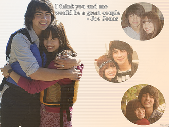 Demi and Joe Wallpaper by Meeltje2951