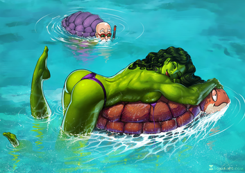 Commission Ted: She-Hulk by SoniaMatas