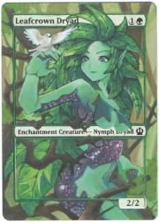 Magic The Gathering: Leafcrown Dryad by Nemezis40i4