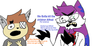 Basically Mystery and Alfred: gift by Skyrokee