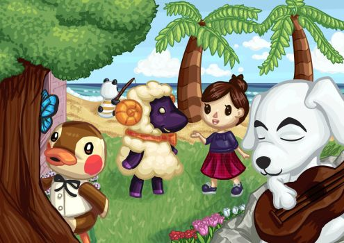 Animal Crossing by celunia