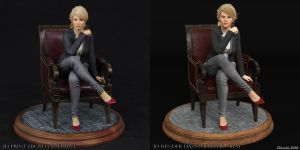 3D Print vs 3D Render Comparison of Cathy by Edheldil3D