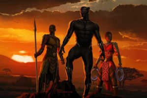 New Marvel's Black Panther Concept Art by Artlover67