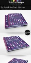 A4 Spiral Notebook Mockup by idesignstudio