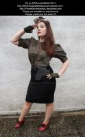Military Girl Stock 001 by MADmoiselleMeliStock