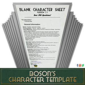 Blank Character Sheet 2 1 8 (390+ Questions!) by TheBoson on DeviantArt