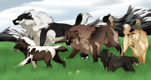 Running Along - Easter Exploration Collab by Cougar28