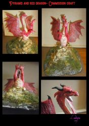 Pyramid and red dragon craft by SkekLa