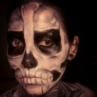 Skeleton Face Paint4 by stinafacexd
