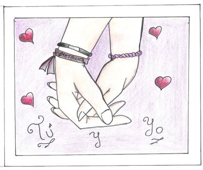 Holding hands... by Lory05