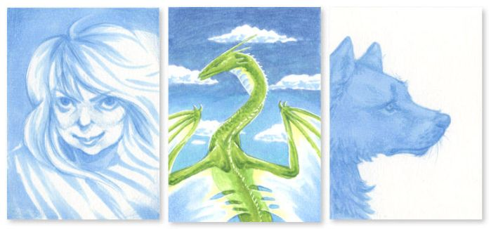 ACEO - new blue marker by enonea