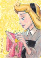 Briar Rose Embroidering by LEXLOTHOR