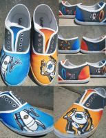 Portal 2 Co-op shoes by Muku-charms