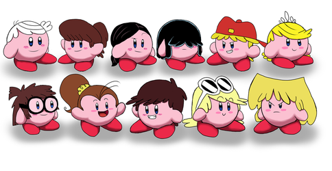 Kirby Hats set 2: The Loud House Characters by WaRrior9100