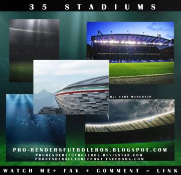 35 STADIUMS FOOTBALL by ProRendersFutboleros