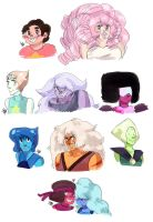 Smiling space rocks by Kindlign