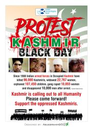 Protest Kashmir Black day Protest by abuebrahim95