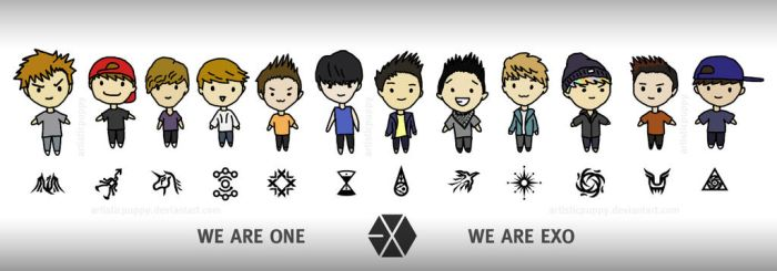 Exo Chibis by artisticpuppy