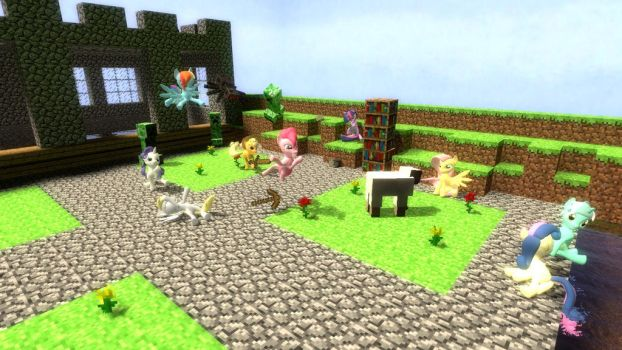 Ponies in Minecraft by PaKuTo