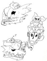 The Gaster Blaster Masters... by SilverSoo