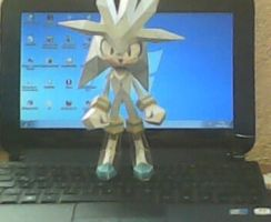 Silver the hedgehog PAPERCRAFT by Waito-chan