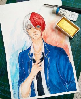 COMMISSION Todoroki Shouto by MaidMei