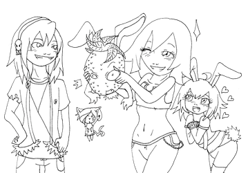 Happy Easter -line art- by AngeltheMerman