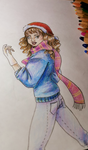 Hermione Granger - Christmas Drawing Fun by Thildran
