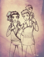 Klaine family by FlanFlame