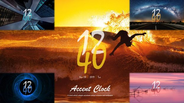 Accent Clock 1.0 by Mohakchhaparwal