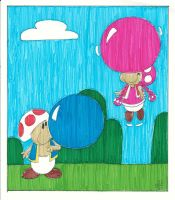 Toad and Toadette's Bubblegum by EmperorNortonII