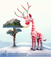 Daily Paint 1849# Candycane Giraffe by Cryptid-Creations