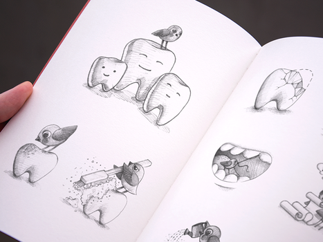 Sketching For A Dental Service by Ramotion