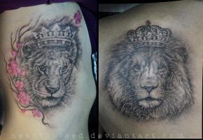 lions by Benjamin Otero by needtobleed