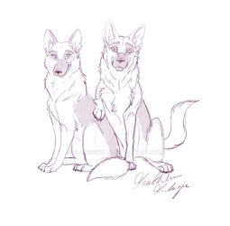 Two Good Dogs by SlayerWolf