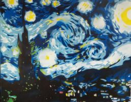 Van Gogh's Starry Night via Spraycan by YourArtTeacher
