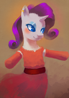 Red Dress Rarity by SirRailgun
