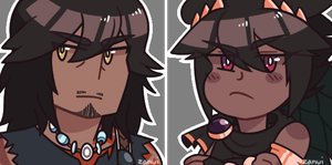 magnus and dark pit icons by zanui
