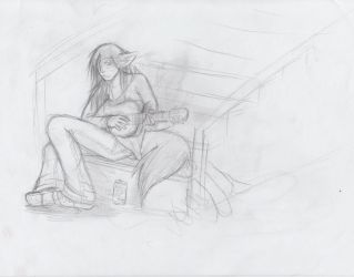 stairs+guitar sketch by FLDwolf