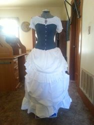 front view victorian gypsy dress by Iryss--reflections